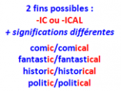 adjectifs -ic -ical def