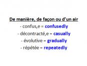 adverbes et compléments de manière